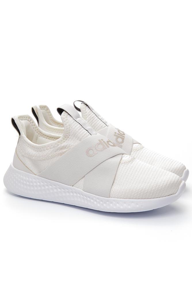 Tenis-Corrida-Feminino-Adidas-Puremotion-Adapt-Off-White