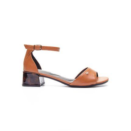 Sandalia-Feminina-Salto-Medio-Comfortflex-Caramelo