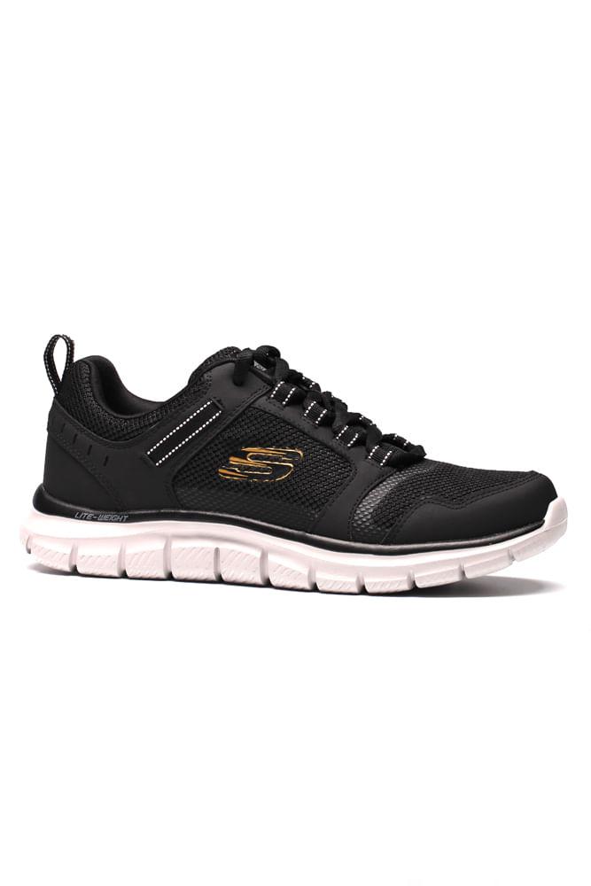 Tenis-Caminhada-Masculino-Skechers-Track--Knockhill-Preto