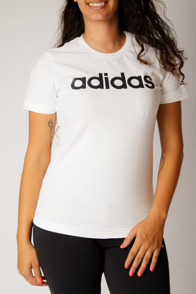 Camiseta-Casual-Feminina-Adidas-Gl0768-Branco-