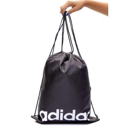 Porta-Chuteira-Adidas-Essentials-Logo-Gym-Sack-Preto