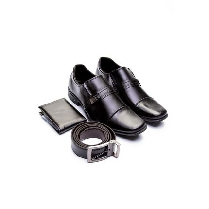Sapato-Social-Masculino-West-Line-Kit-Cinto-Carteira-Preto-