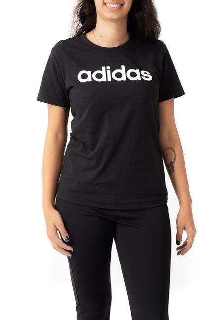 Camiseta-Feminina-Casual-Adidas-Essentials-Slim-Preto