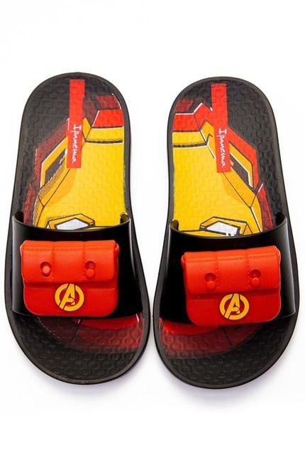 Chinelo-Slide-Juvenil-Menino-Ipanema-Avengers-Preto