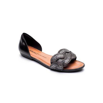 Sandalia-Rasteira-Feminina-Dakota-Z6831-Strass-Preto