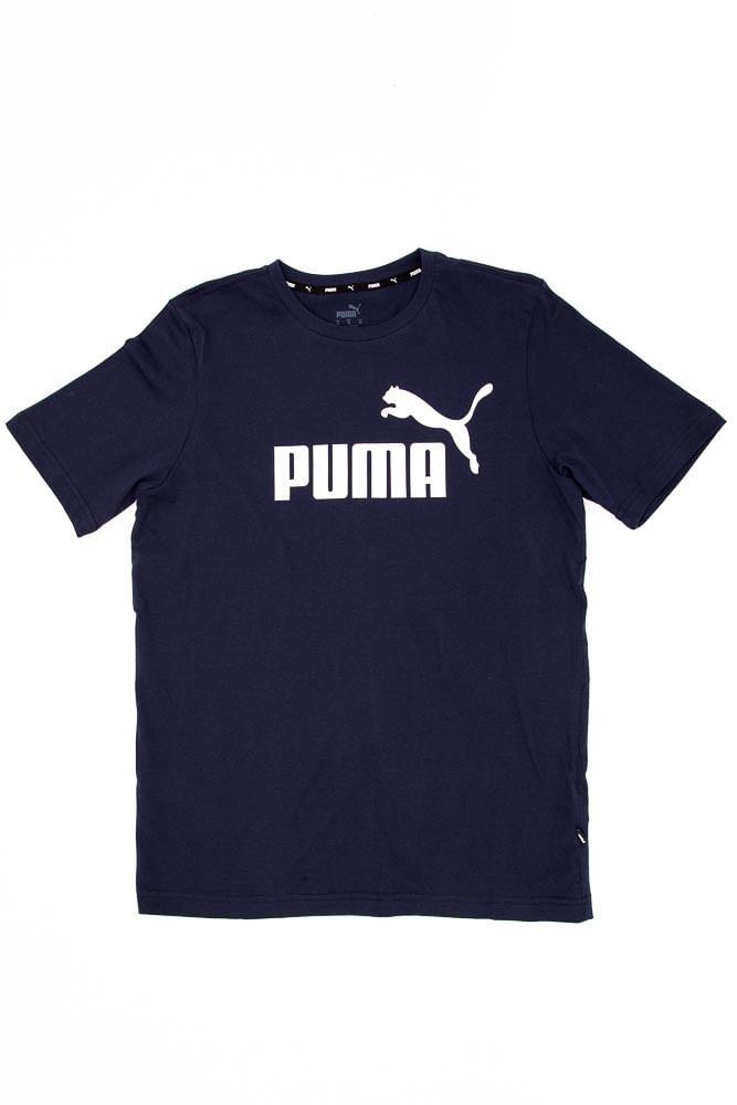Camiseta-Casual-Masculina-Puma-Logo-Tee-Marinho