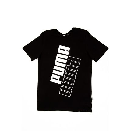 Camiseta-Casual-Masculina-Puma-Power-Logo-Preto