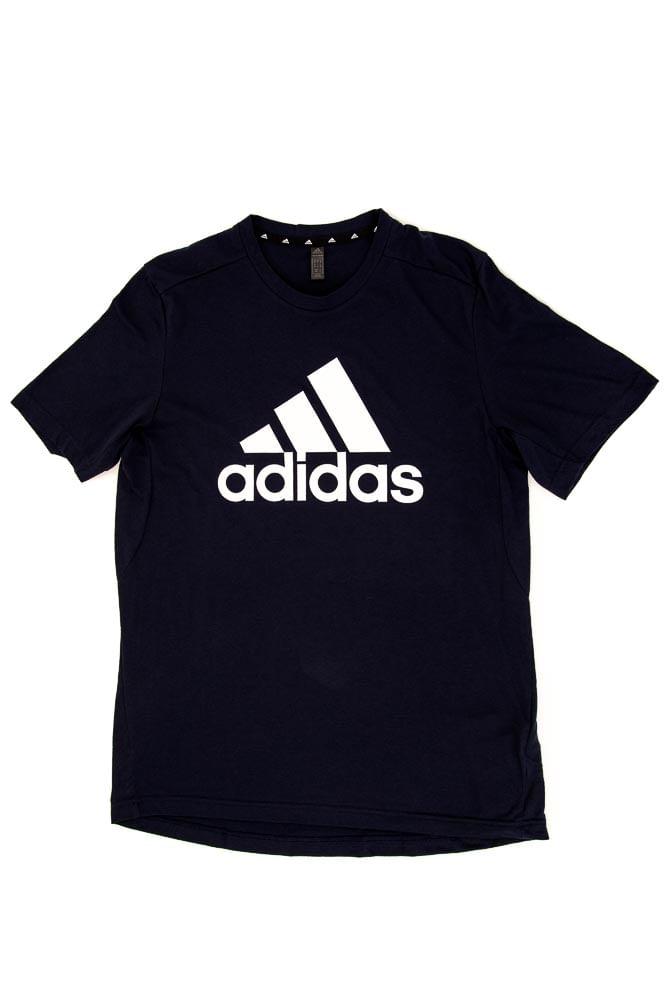 Camiseta-Casual-Masculina-Adidas-D2m-Logo-Feelready-Marinho