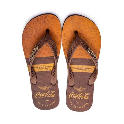 Chinelo-De-Dedo-Masculino-Coca-Cola-Marrom