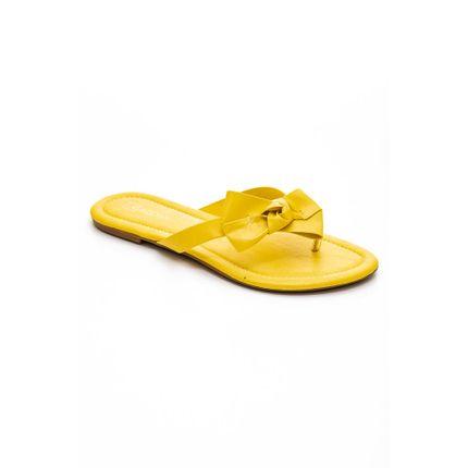 Chinelo-Rasteira-Feminina-Addan-R2340-Laco-Amarelo