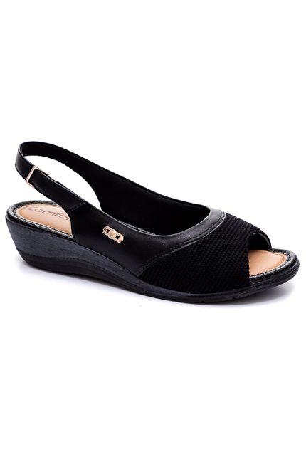 Sandalia-Casual-Conforto-Feminino-Comfortflex-Preto-