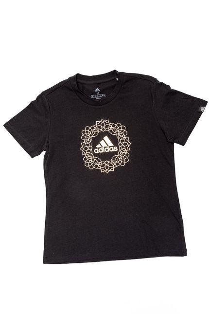 Camiseta-Feminina-Adidas-Foil-Mandala-H14685-Preto