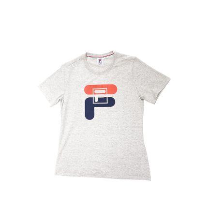 Camiseta-Feminina-Fila-Graphic-F12l034-1333-Cinza