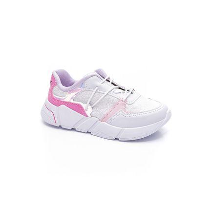 Tenis-Casual-Menina-Juvenil-Pink-Cats-V2082-01-Branco
