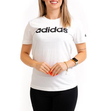 Camiseta-Casual-Feminina-Adidas-Gl0768-Branco