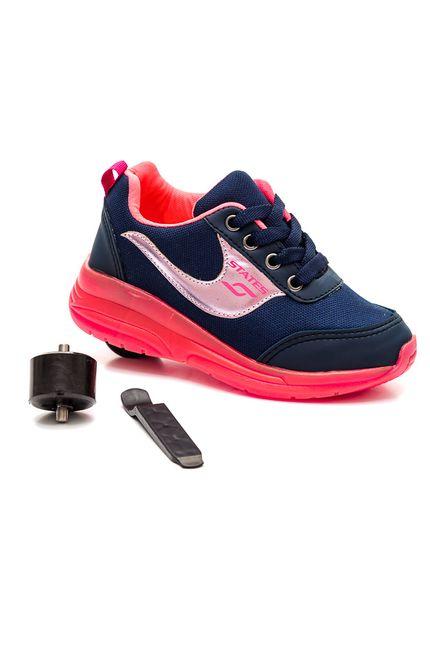 Tenis-Casual-Menina-Juvenil-Rodinha-Botinho-Pink