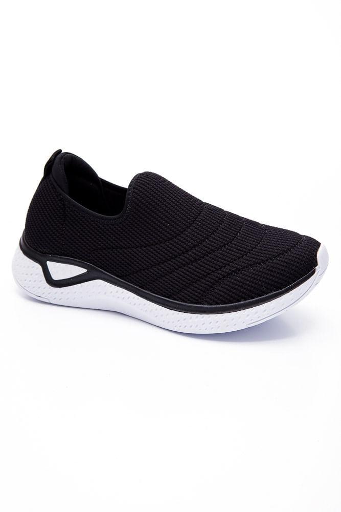 -Tenis-Slip-On-Comfortflex-Preto