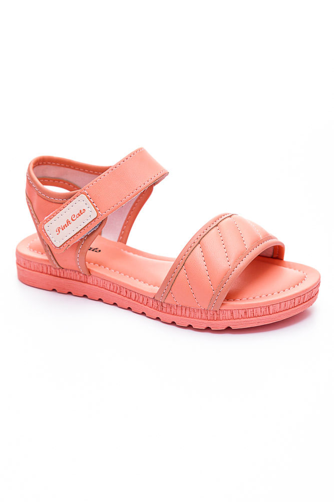 Sandalia-Casual-Menina-Juvenil-Pink-Cats-V2282-02-Salmao