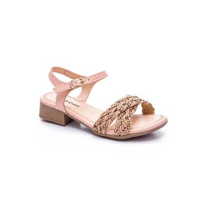 Sandalia-Casual-Menina-Juvenil-Pink-Cats-V2041-Rosa