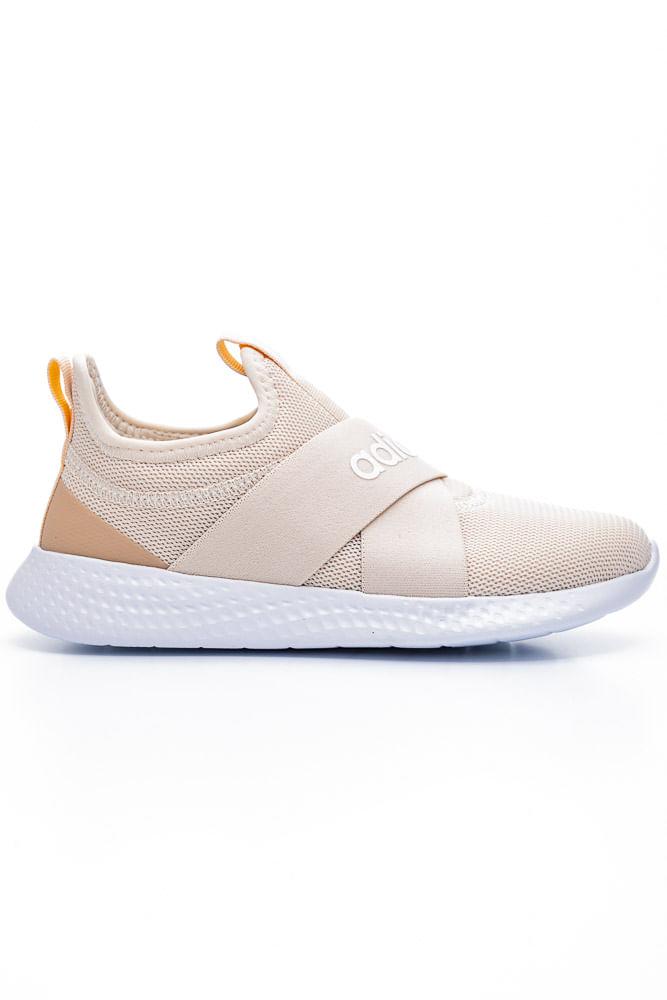 Tenis-Slip-On-Feminino-Adidas-Puremotion-Adapt-Bege